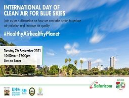 International Day of clean air for blue skies 2021