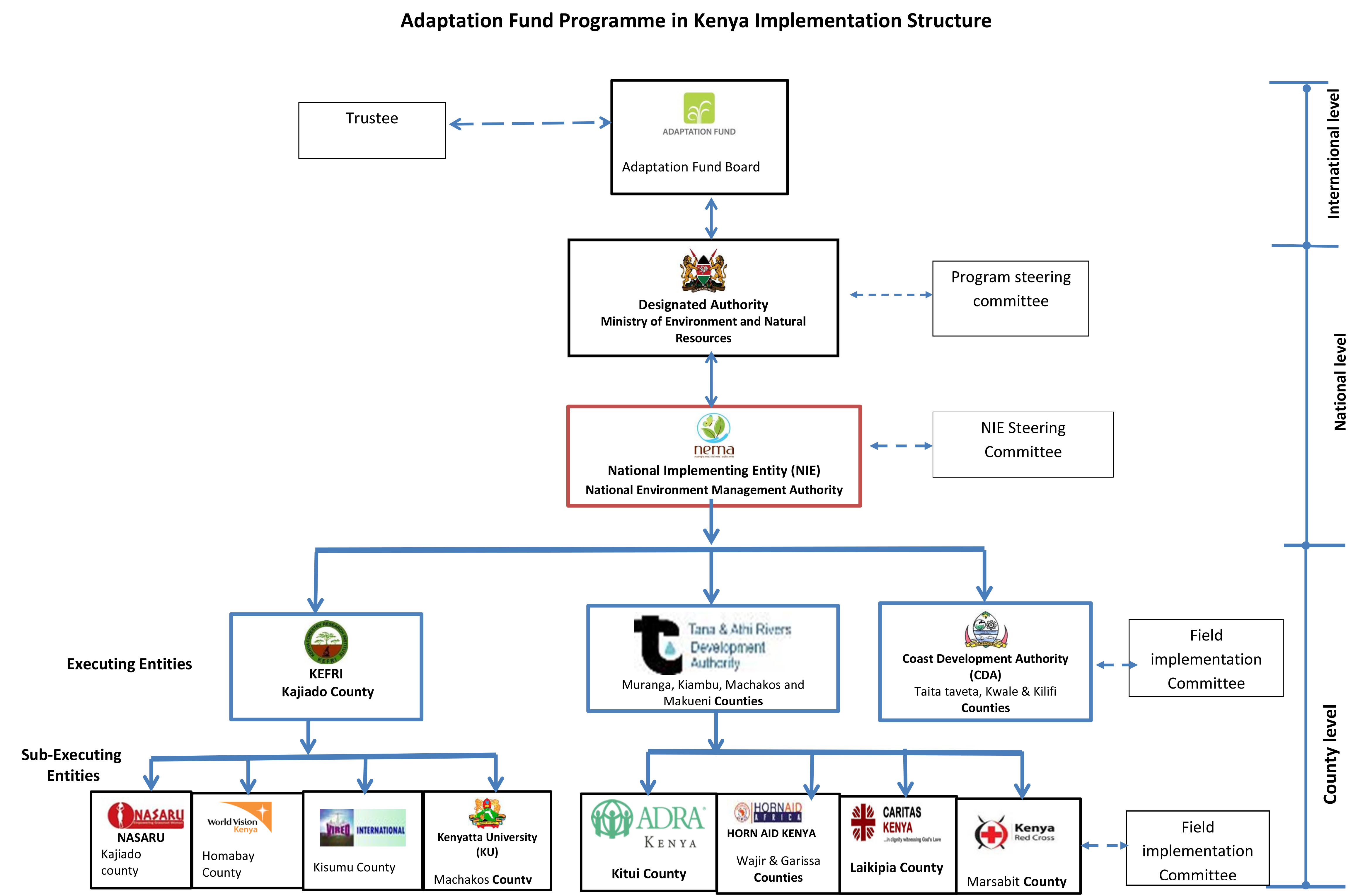 Niestructure on kenya government structure